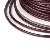 Polyester waxkoord 1 mm rood bruin
