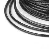 Polyester waxkoord 1 mm zwart