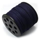 Suede koord 3 mm donker blauw