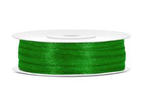 Dubbelzijdig satijn lint 3 mm groen