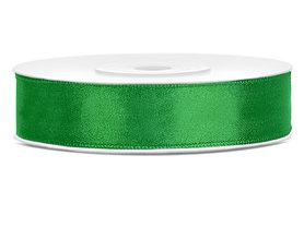 Satijn lint 12 mm groen
