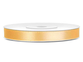 Satijn lint 6 mm goud