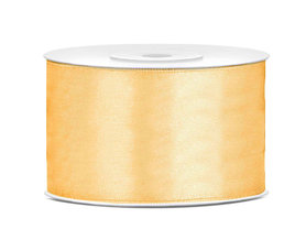 Satijn lint 38 mm goud