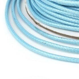 Polyester waxkoord 1 mm licht blauw