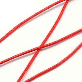 Polyester waxkoord 1 mm rood
