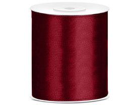 Satijn lint 100 mm Bordeaux rood