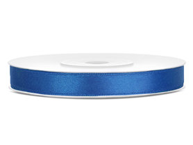 Satijn lint 6 mm blauw