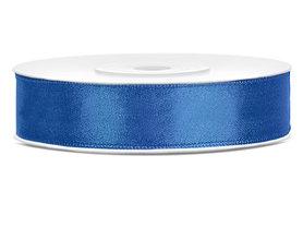 Satijn lint 12 mm blauw