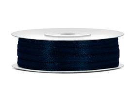 Dubbelzijdig satijn lint 3 mm donker blauw 50 meter