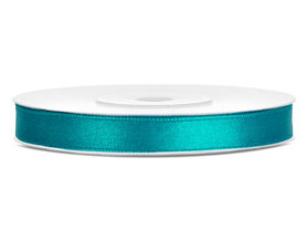 Satijn lint 6 mm Aqua