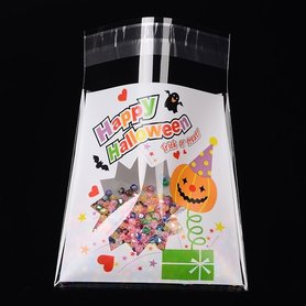 cellofaan zakjes happy halloween trick or treat 10 stuks