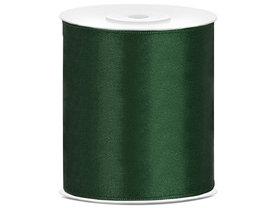 Satijn lint 100 mm donker groen