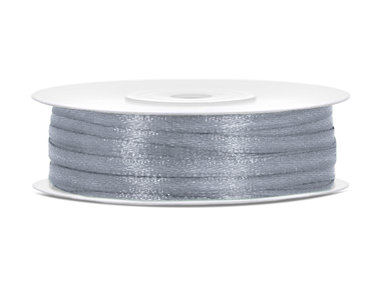 10 meter Satijn lint 3 mm grijs