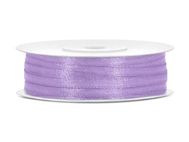 Dubbelzijdig satijn lint 3 mm lavendel