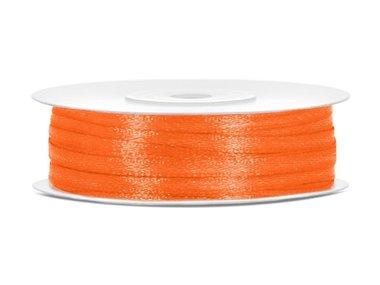 Dubbelzijdig satijn lint 3 mm oranje
