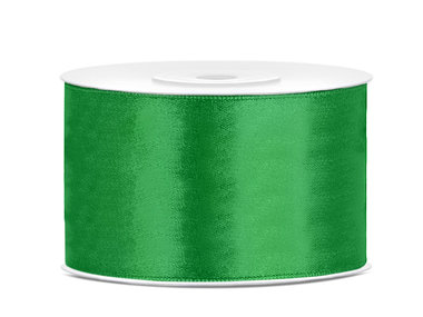 Satijn lint 38 mm groen
