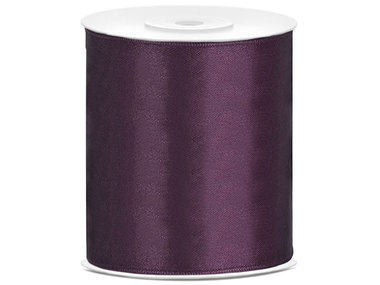 Satijn lint 100 mm donker paars