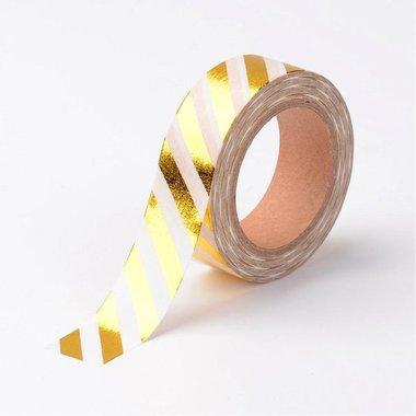 Washitape goud streep diagonaal
