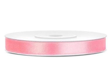 Satijn lint 6 mm roze 3 meter