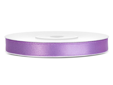 Satijn lint 6 mm breed lavendel 5 meter