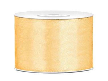 Dubbelzijdig satijn lint 50 mm goud