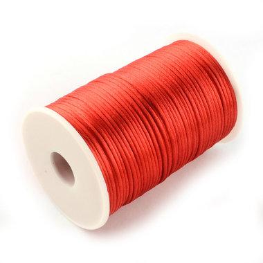 Satijn koord 1.5 mm rood 100 meter rol