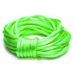 Satijn koord 1.5 mm fel groen