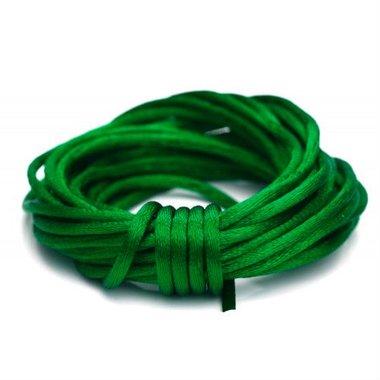 Satijn koord 1.5 mm groen