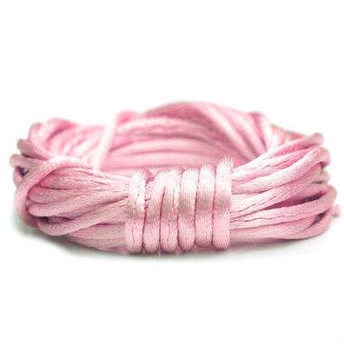 Satijn koord 1.5 mm roze