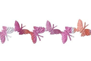 1.5 meter Vlinder lint Roze-Oranje