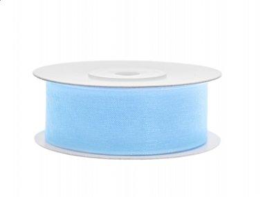Organza lint 25 mm Licht blauw