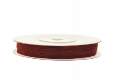 Organza lint 3 mm Bordeaux rood