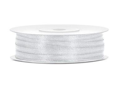 50 meter satijn lint 3 mm zilver