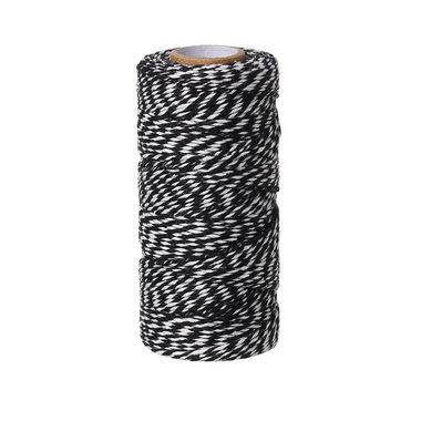 Bakkerstouw zwart wit 90 meter