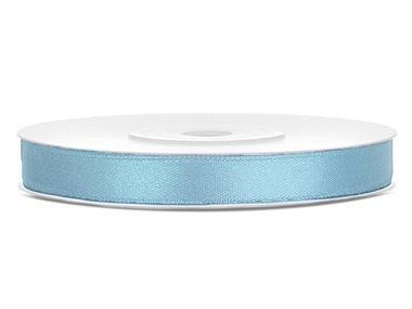 Dubbelzijdig satijn lint 6 mm Licht blauw