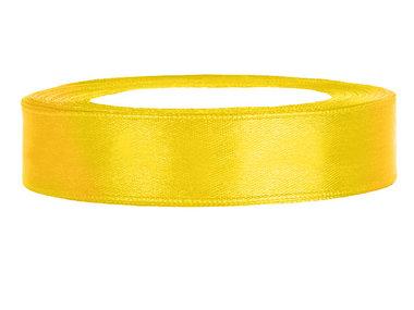Satijn lint 1 cm Geel