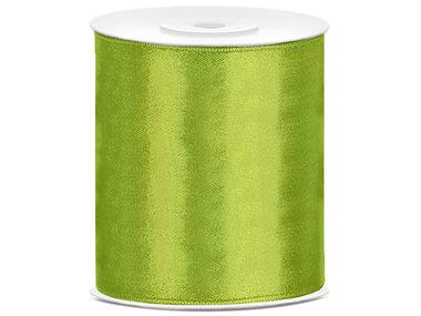 5 meter satijn lint 100 mm lime groen