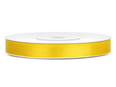 Satijn lint 6 mm Geel