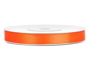 Satijn lint 6 mm Oranje