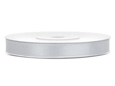 Satijn lint 6 mm Zilver