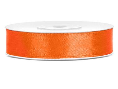 Satijn lint 12 mm Oranje