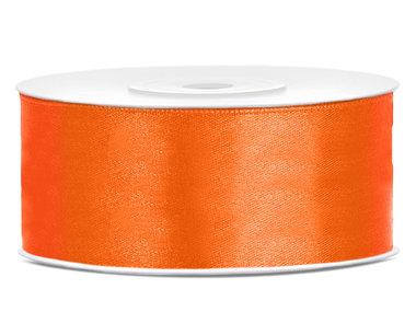 Satijn lint 25 mm Oranje