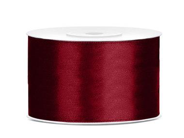 Satijn lint 38 mm Bordeaux rood