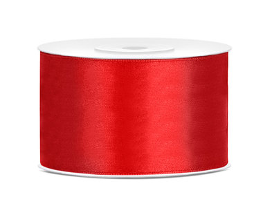 Satijn lint 38 mm Rood