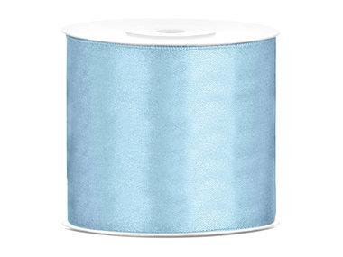 Satijn lint 75 mm Licht blauw