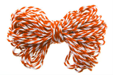 Bakkerstouw oranje wit 10 meter