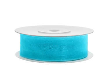 Organza lint 25 mm aqua