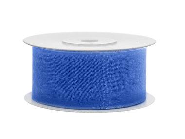 Organza lint 38 mm blauw 25 meter rol
