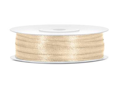 50 meter satijn lint 3 mm goud