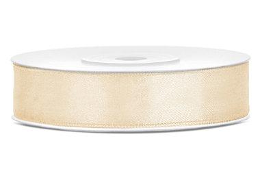 Satijn lint 12 mm goud